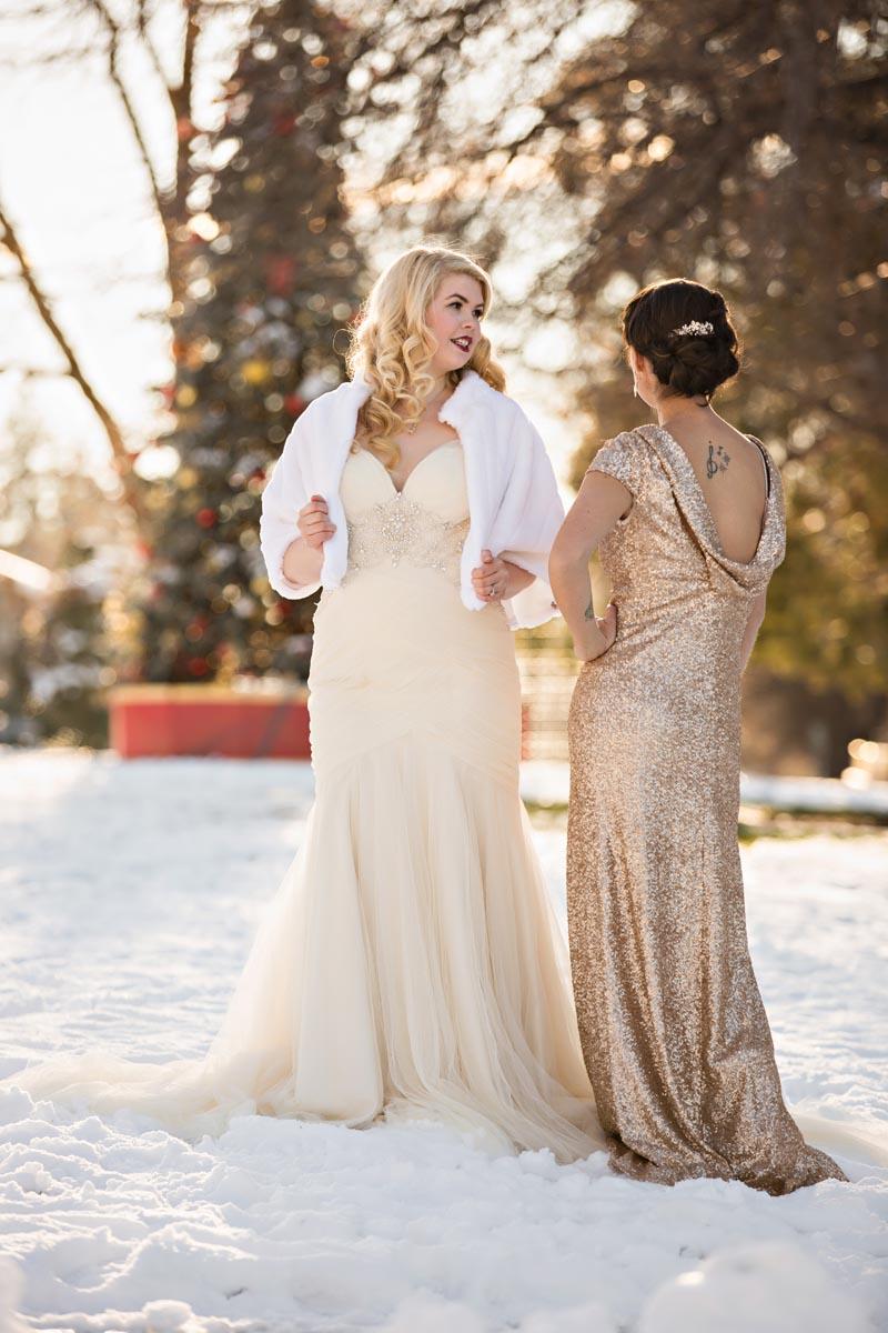Styled Bridal Session in Bend Oregon Winter Wonderland